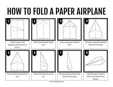 How To Fold A Paper Airplane