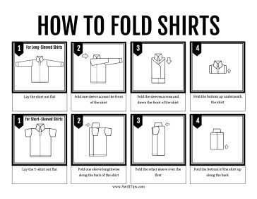 how to fold shirts. Black Bedroom Furniture Sets. Home Design Ideas