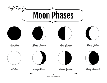 Lunar Phases Printable Board Game