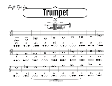 trumpet fingering chart band musicians will enjoy this brass ...